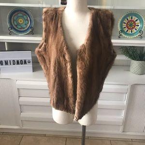 Genuine mink fur vest vintage